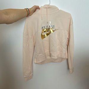 Nike Cropped Light Pink Hoodie